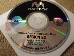 Maptech Coastal Topographic Cd Maps - Region 82 Lake Huron And St. Clair Us Waters