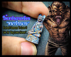 Thai Amulet Charming Dog Face Wizard Chieftain Body Hight Top By Phra Arjarn O