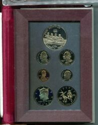 1996 S U.s Prestige Soccer Rowing Olympic 7 Coin Set Proof 1920l