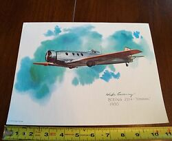 1975 United Airlines Collector Print Boeing 221a Monomail 1930 Nixon Galloway