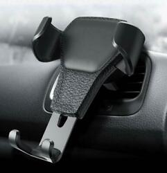 Phone Holder Clip Air Vent Mount Stand Car Holder Leather Grain Pattern