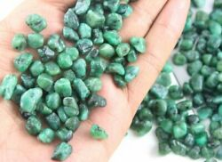 Natural Green Emerald Gemstone Uneven Shape Rough 10-12 Mm Making Jewelry 50 Pcs