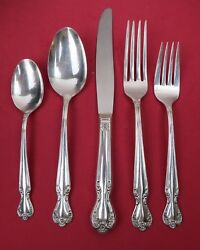 5 Pc. Place Setting Rogers And Bros Silverplate 1952 Daybreak Elegant Lady Pattern