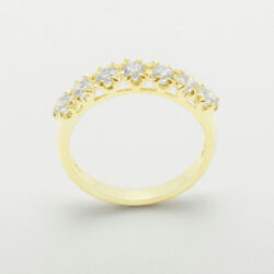 18ct 750 Yellow Gold Cubic Zirconia Womens Eternity Ring - Sizes J To Z
