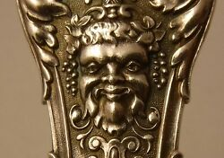 Antique Bruckmann And Sohne Germany 800 Silver Figural Ice Cream Slice Bacchus