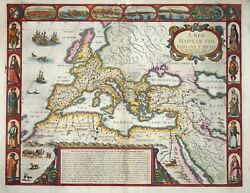 A New Mappe Of The Romane Empire By John Speed 1676.