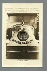 Rppc C1920 Advertising Trucking Company Haines Motor Service Delivery Van Truck