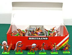 Britains Deetail Indians - 48 Foot Figures - 2nd Version 7540 Mint In Box
