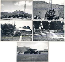 1940s Oamaru Nz Taylor Bucyrus-erie Water Well Drilling Rig Truck Tractor Photos
