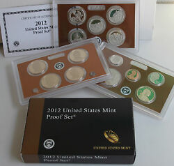 2012 S United States Mint Annual 14 Coin Proof Set With Original Box And Coa