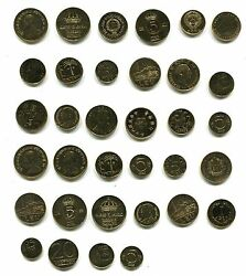 Worldwide Collection Of 34 Gold Plated Coins Terrific Dealers Or Collectors Lot