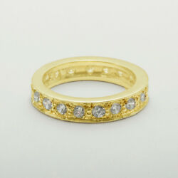 18ct 750 Yellow Gold Natural Diamond Womens Eternity Ring - Sizes J To Z