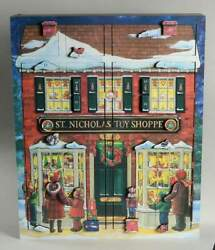 Byers Choice TRADITIONS ADVENT CALENDAR St. Nick's Toy Shoppe Musical 10336875