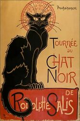 Poster Many Sizes Theophile-alexandre Steinlen Tour Of Rodolphe Salis Chat Noi