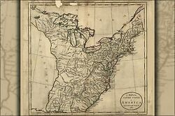 Poster Many Sizes Map Of The United States Of America 1783 P2