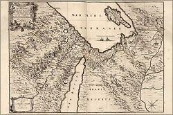 Poster, Many Sizes Map Of Middle East Egypt Israel 1693