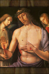 Poster, Many Sizes Christ Supported By Two Angels, C.1490 By Raphael