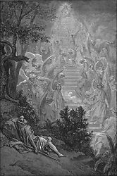 Poster Many Sizes Jacoband039s Dream Gen. 2810-15 From Gustave Dore English Bible