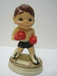 Vintage Hand Painted Boxer Figurine / Statue 13 Floyd Patterson Collection