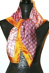 Missoni Authentic 35 X 35 Silk Twill Zig-zag Scarf Made In Italy Large