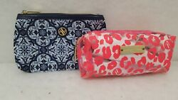 2 piece Pair of ADRIENNE VITTADINI Designer Cosmetic Makeup Travel Home Acc Bags $24.99