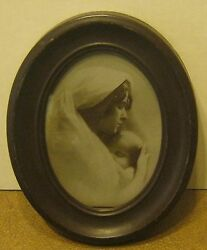1900 Photograph By Taber Prang Art Co Madonna By W.h. Partridge Orig Frame