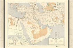 Poster, Many Sizes U.s. Army Map Of Near Middle East 1952
