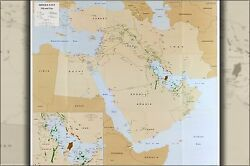Poster, Many Sizes Cia Map Of Middle East Oil And Gas P2