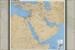 Poster, Many Sizes Cia Map Of Middle East 1990 Iraq Iran Israel P3
