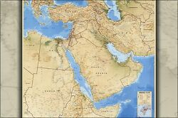 Poster, Many Sizes Cia Map Of Middle East Iraq Iran Israel 1993