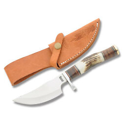 Marbles Skinner Stacked Leather And Stag Mr814 Knife/knives New In Box