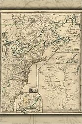 Poster Many Sizes Map Of New England And Canada 1755 P1