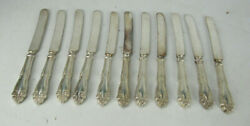 11 Imperial Holmes And Edwards Inlaid Knives Silverplate 9 3/4 No Monograms