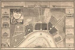 Poster Many Sizes Map Of New Orleans From Survey Made In 1815