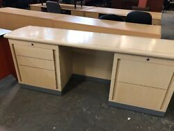 80w X 20d X 30h Conference Room / Lobby Credenza In Maple Finish Wood Veneer