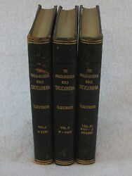 Popular And Critical Illustrated Bible Encyclopedia Fallows 3 Vol Set 1911 Leather