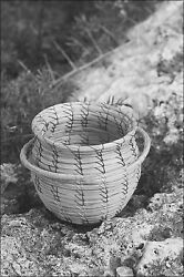 Poster, Many Sizes Seminole Coiled Sweet Grass Button Basket