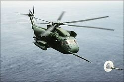 Poster Many Sizes Sikorsky Hh-53c Super Jolly Green Giant Helicopter Refuellin