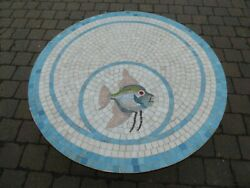 Rare Mid Century Glass Mosaic Table Coffee Berthold MÜller Germany Vintage Fish