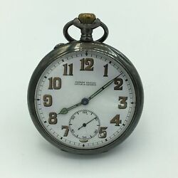 Antique Ulysse Nardin Geneve Locle Corps Of Engineers Of Pocket Watch 900 Silver