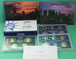 2008 Proof And Uncirculated Annual Us Mint Coin Sets Pds 42 Coins