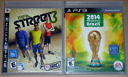 Ps3 Game Lot - Ea Sports Fifa Street 3 Used 2014 Fifa World Cup Brazil New