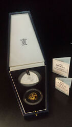 Bermuda 1996 Triangular Gold 30 And Silver 9 Proof Two-coin Set W/box And Coa