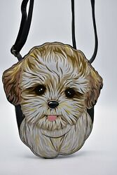 Sleepyville Critters Shih Tzu Puppy Dog Cross Body Purse Handbag Maltipoo CUTE $20.65