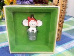 Hallmark Thimble Mouse ornament 1978 tree Trimmer