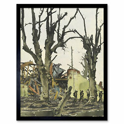 Colville Shattered Landscape Cleve Wwii Painting Framed Wall Art Poster