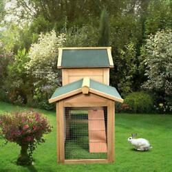 61quot; Wooden Chicken Coop Hen House Rabbit Wood Hutch Poultry Cage Habitat Sturdy