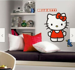 HELLO KITTY wall stickers MURAL 11 decals room decor 28quot; tall cat Sanrio