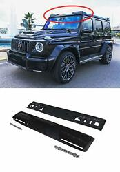 Carbon Front Roof Spoiler With Led Drl For Mercedes-benz W463a W464 G-class 2018