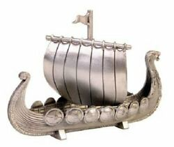 Norway Pewter Viking Ship with Sail NEW $32.00
